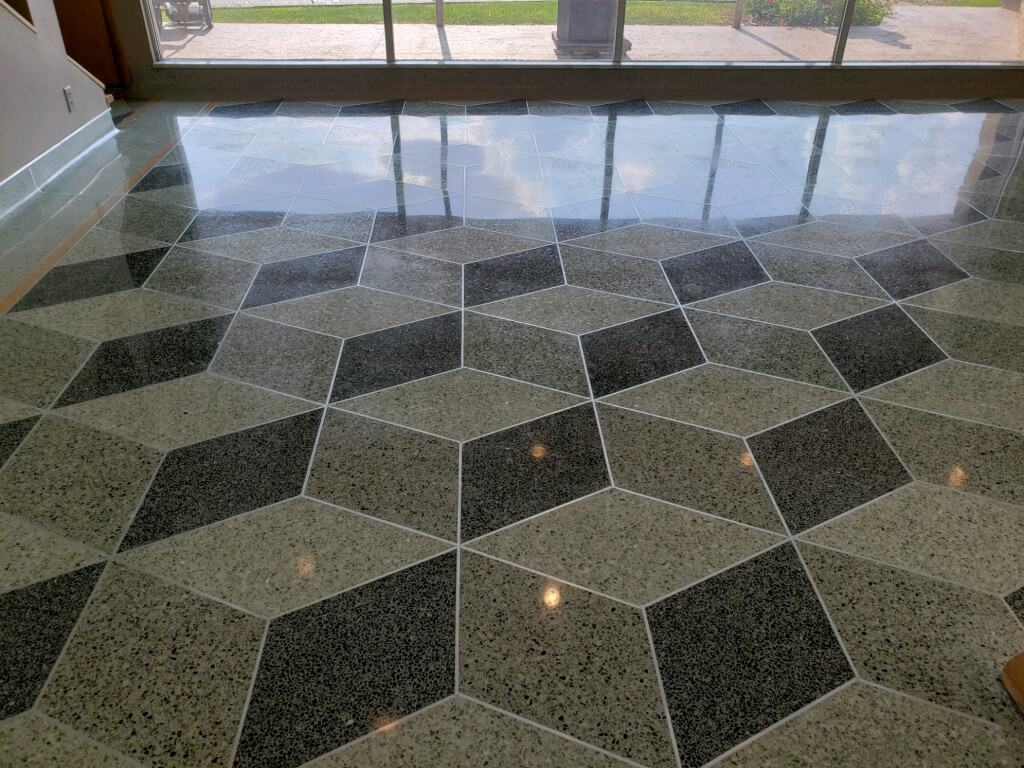 Grinding and Polishing Terrazzo Floor Monticello Indiana High Luster